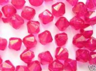 5000 Acrylic Bicone Beads 3mm Rose